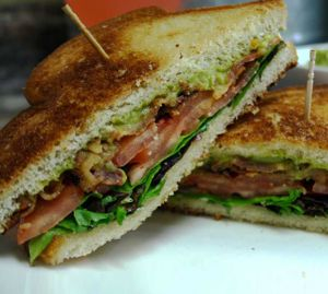 Fancy Bacon Lettuce Tomato Sandwich
