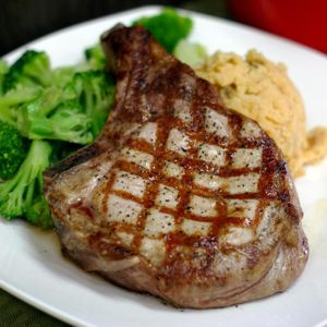 Grilled Pork Chop Square